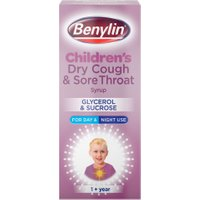 Benylin Children's Dry Cough and Sore Throat 1+ Year