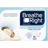 Breathe Right Congestion Relief Nasal Strips Clear Small/Medium