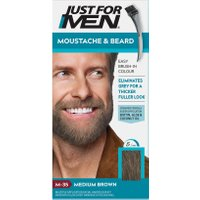 Just For Men Moustache & Beard Brush – In Colour – Medium Brown