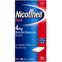 Nicotinell Nicotine Gum Stop  Aid 4 mg Fruit 96 Pieces