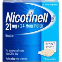 Nicotinell Patch  Aid 21mg24 hour Step 1 x10 7 Patches   x10 Pack