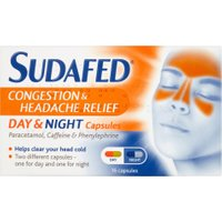 Sudafed Congestion & Headache Relief Day/Night Capsules 16s