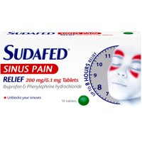 Sudafed Sinus Relief Tablets 16s