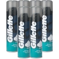 Gillette Sensitive Skin Shaving Foam 6 Pack