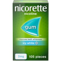 Nicorette Icy White Gum 2mg 105 Pieces